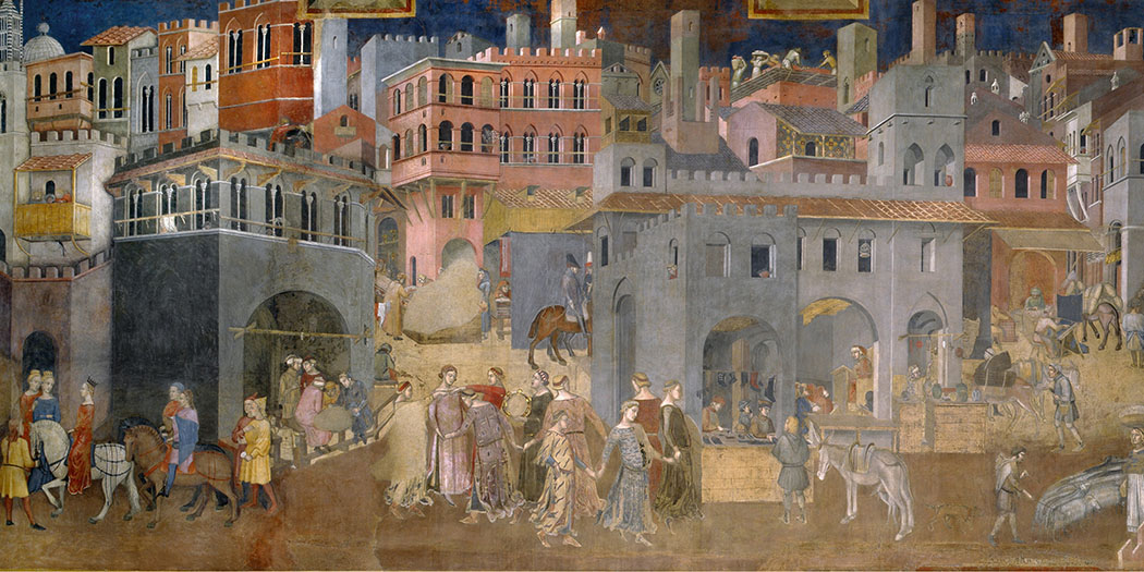Ambrogio Lorenzetti , 'Allegory of Good and Bad Government'