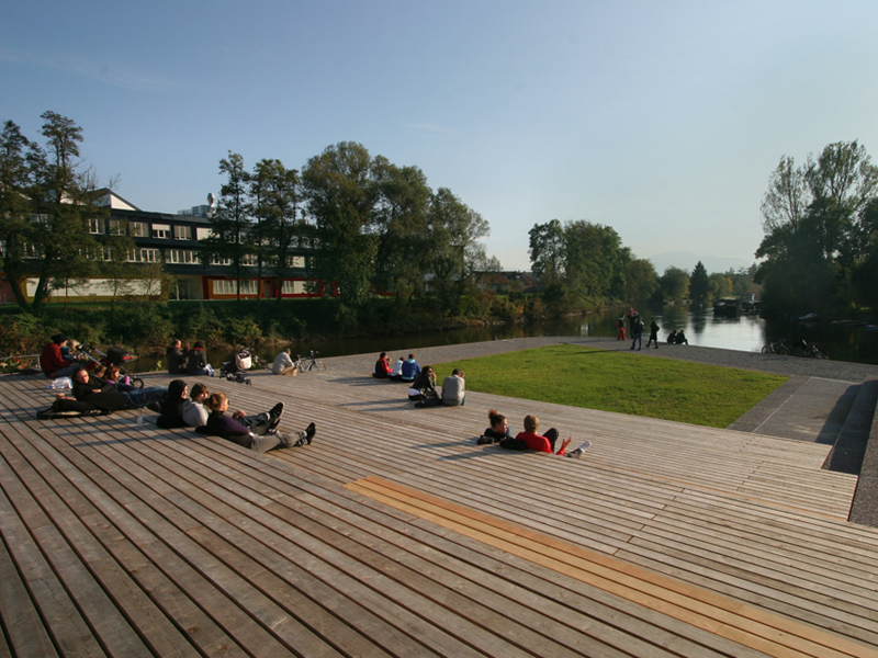 Rearrangement of Ljubljanica riverbanks